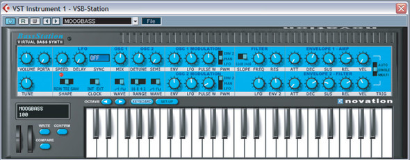 Novation Bass Station Virtual Analogue Synthesiser (Serial Number Download)