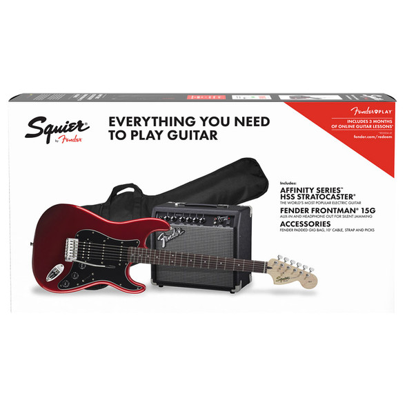 Fender Squier Affinity Series Stratocaster HSS Pack, Candy Apple Red