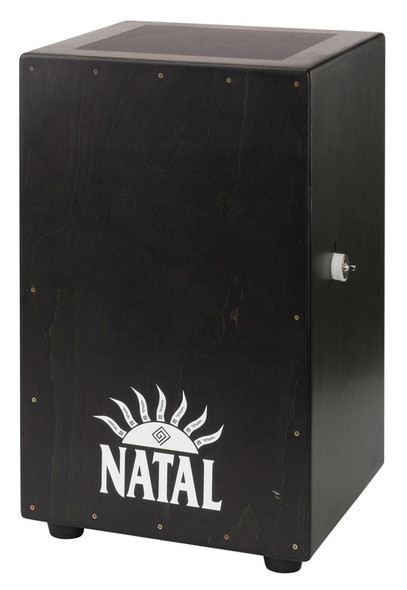 Natal Large Black Cajon, Black Panel, White Logo