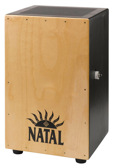 Natal Large Black Cajon, Natural Panel, Black Logo