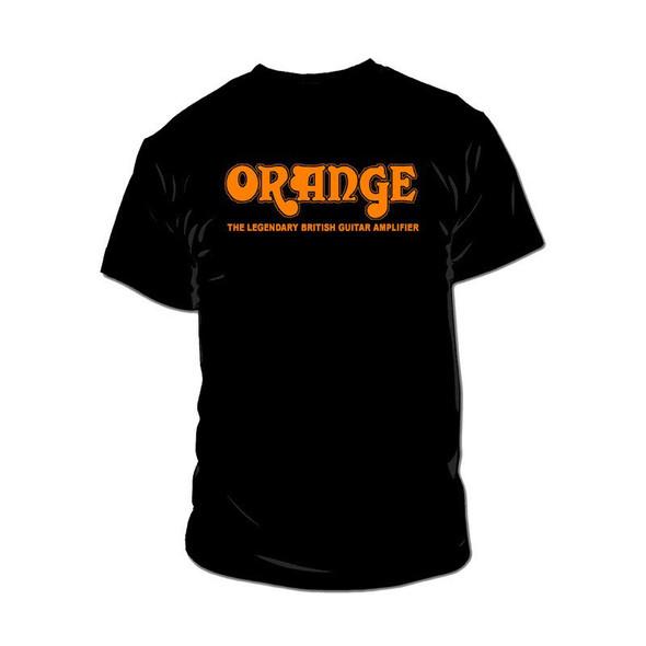 Orange Amps Classic T Shirt, Black, Medium