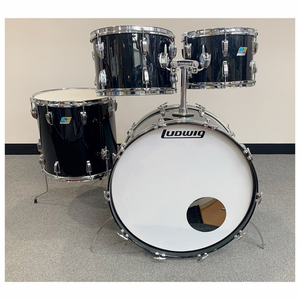 Ludwig Early 70s 24 Inch Shell Pack in Black, RE-WRAP (Pre-Owned)