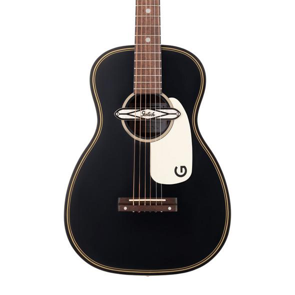 Gretsch G9520E Gin Flat Top Guitar w/Deltoluxe Pickup, Smokestack Black