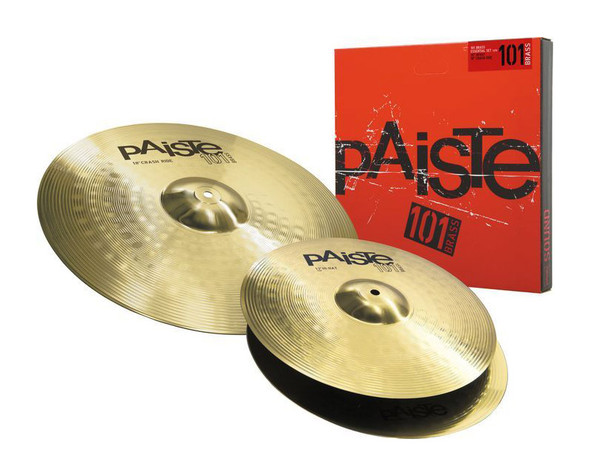 Paiste P101BS214 101 Cymbal Set. 14 Inch Hi-Hat ,18 Inch Crash/Ride