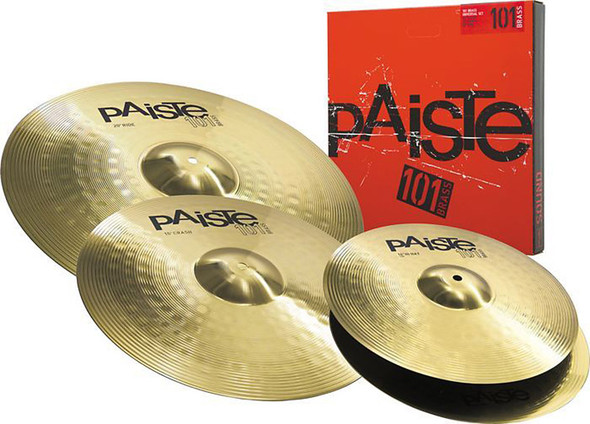 Paiste P101BS314 101 Cymbal Set. 14 Inch Hi-Hats,16 Inch Crash, 20 Inch Ride