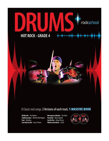 Rockschool Drums Hot Rock Grade 4 Book / 2 CDs