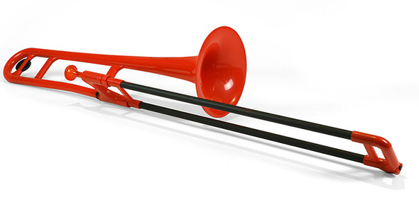pBone Plastic Trombone, includes Bag & Mouthpiece, Red