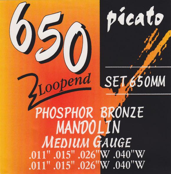 Picato Mandolin Strings Phosphor Bronze Loop End Gauge 11-40 Set
