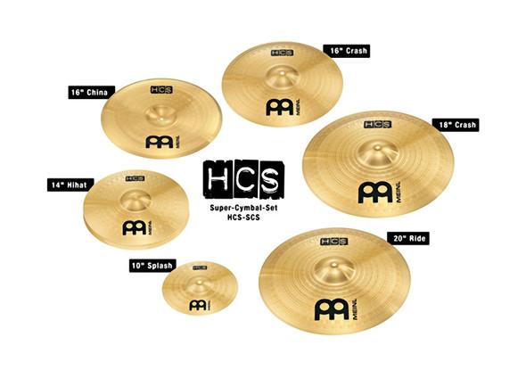 Meinl HCS Super Cymbals Set 10,14 HiHats, 16 china,16 and 18 Crashes, 20 Ride