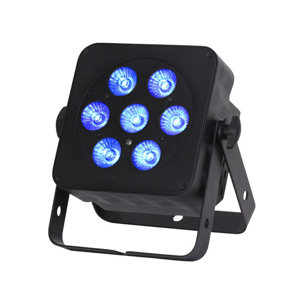 LEDJ Slimline 7Q5 RGBW LED Par, Black Casing