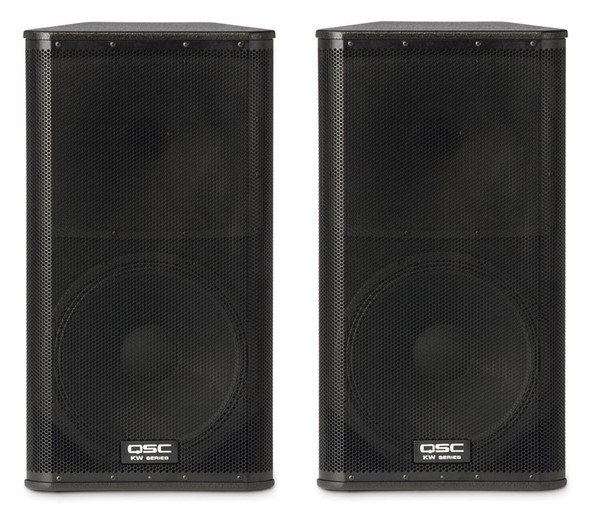 QSC KW152 15 inch active 2 way PA speakers ( Pair )