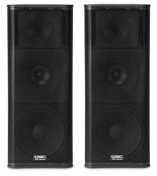 QSC KW153 15 inch Active 3 Way PA Speakers (Pair)