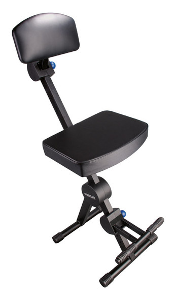 QuikLok DX749 Height Adjustable Musicians Stool with Backrest and Footrest