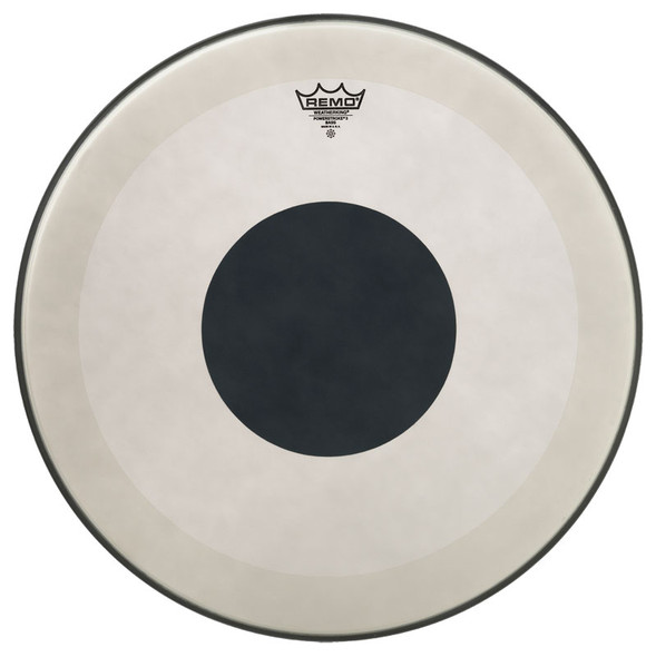 Remo Powerstroke 3 Coated 20-inch Bass Drum Head, Black Dot