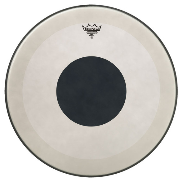 Remo Powerstroke 3 Coated 22-inch Bass Drum Head, Black Dot