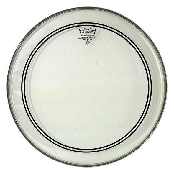 Remo P3-1324-C2 Powerstroke 3 24 Inch Clear Bass Drum Head