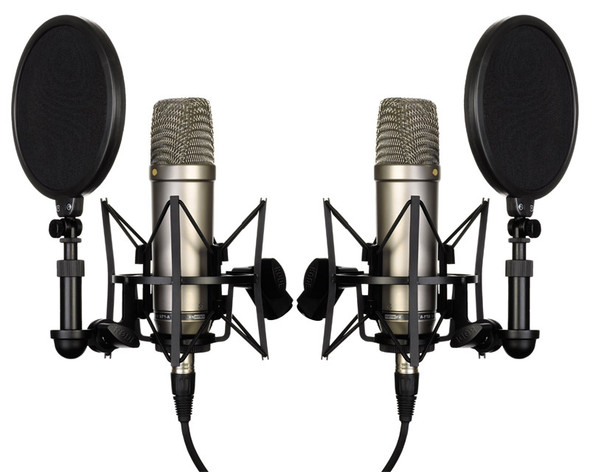 Rode NT1-A Large Diaphragm Condenser Microphone, Matched Stereo Pair