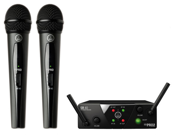 AKG WMS 40 Mini2 Dual Vocal Set Wireless System (ISM2, ISM3)