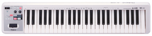 Roland A-49 49 note USB/MIDI Controller Keyboard, White