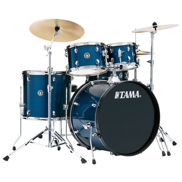 Tama Rhythm Mate Complete Drum Kit with Zildjian Cymbals in Hairline Blue