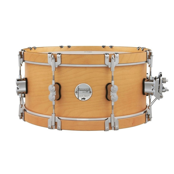 PDP Concept Classic 14 x 6.5 Inch Snare Drum, Natural Finish with Natural Hoops