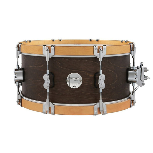 PDP Concept Classic 14 x 6.5 Inch Snare Drum, Walnut Finish with Natural Hoops