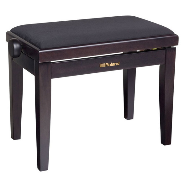 Roland RPB-220RW Piano Bench, Rosewood, Velour Seat