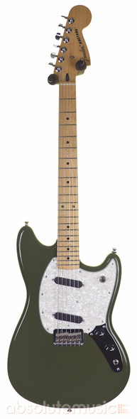 Fender Limited Edition Mustang Electric Guitar, Olive with Hard Case (Pre-Owned)