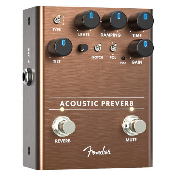 Fender Acoustic Preverb Preamp/Reverb Effects Pedal