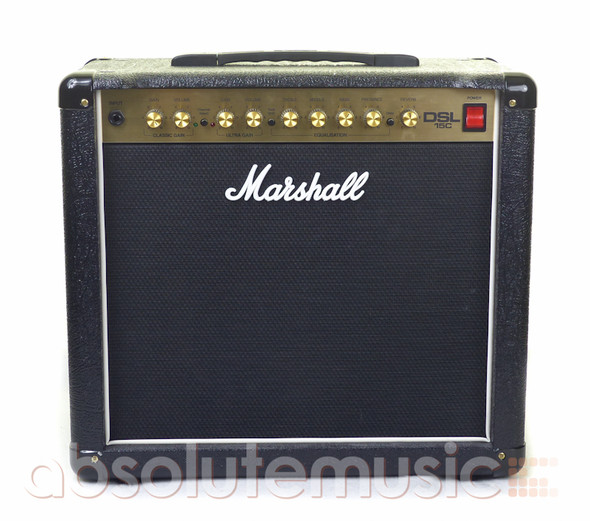 Marshall DSL15C 15W 1x12 Combo Valve Amplifier with Footswitch (Pre-Owned)