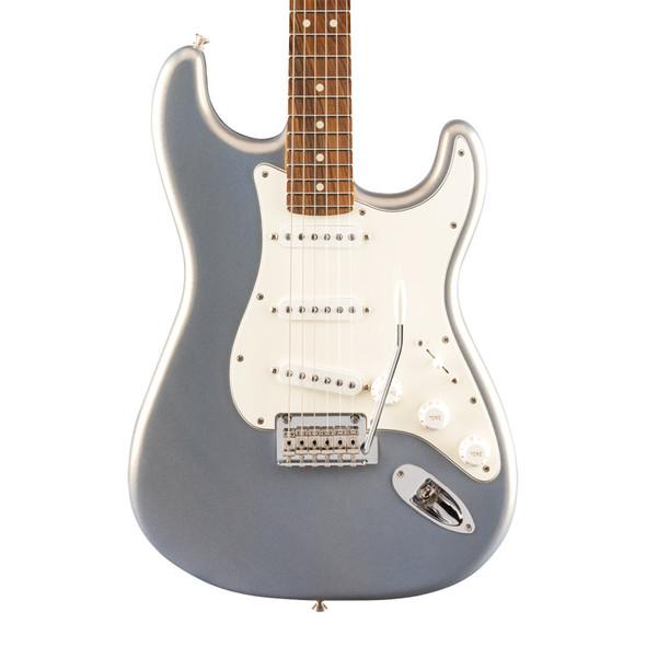 Fender Player Stratocaster Electric Guitar, Silver, Pau Ferro