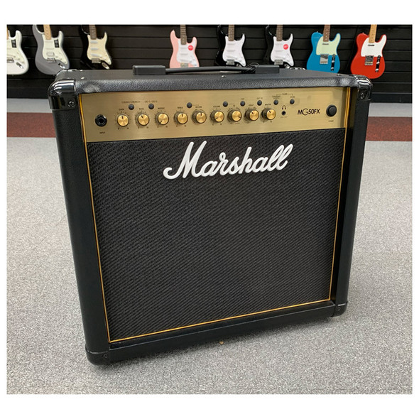 Marshall MG50GFX 50W 1 x 12 Guitar Combo with Reverb & Digital Effects, Gold  (b-stock)