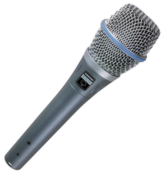 Shure Beta 87A Handheld Vocal Condenser Microphone (Super-cardioid)
