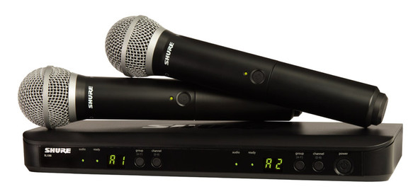 Shure BLX288UK/PG58 PG58 Wireless Dual Vocal System (Analogue)