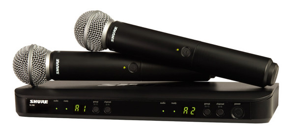Shure BLX288UK/SM58 SM Wireless Dual Vocal System with 2 x SM58