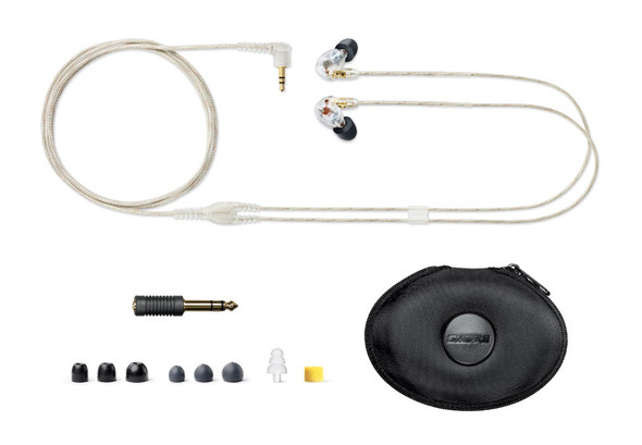 Shure SE425 Sound Isolating Earphones, Clear