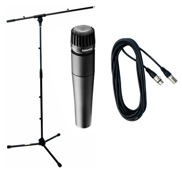 Shure SM57 Boom Stand and Cable Bundle