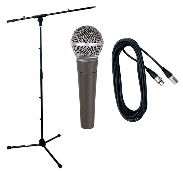 Shure SM58 Boom Stand and Cable Bundle