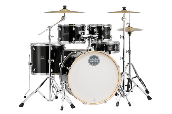 Mapex ST5295FT-DK Storm Series 22 Complete Drum Kit in Black with Paiste Cymbals
