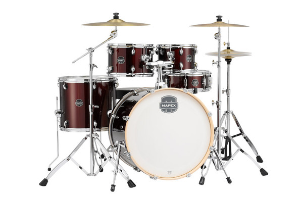 Mapex ST5295FT-DK Storm Series 22 Complete Drum Kit in Red with Paiste Cymbals