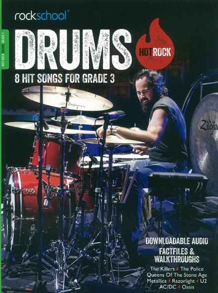 Rockschool: Hot Rock Drums - Grade 3 (Book/Online Audio)