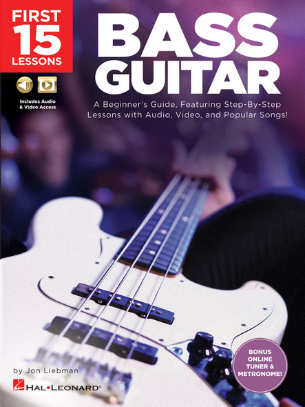 First 15 Lessons: Bass Guitar BK/MED