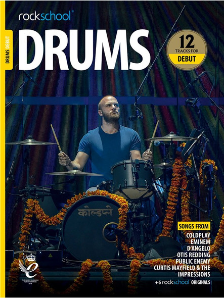 Rockschool: Drums Debut 2018 (Book/Audio)