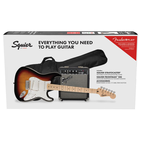 Fender Squier FSR  Stratocaster Pack, 3-Colour Sunburst