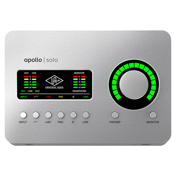 Universal Audio Apollo Solo Heritage Edition Thunderbolt 3 Audio Interface with DSP