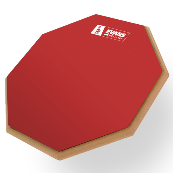 Evans Real Feel 12 Inch Practice Pad - Limited Edition Red Rubber