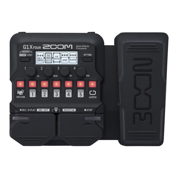 Zoom G1X FOUR Guitar Effects Processor with Expression Pedal