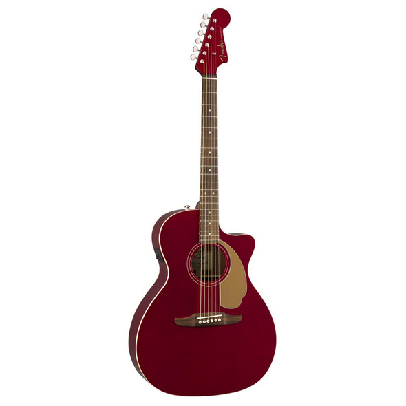 Fender Newporter Player Electro-Acoustic Guitar, Candy Apple Red