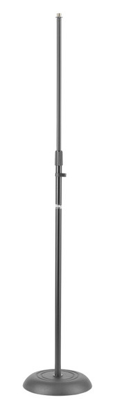 Stagg MIS-1120BK Round Base Straight Microphone Stand, Black