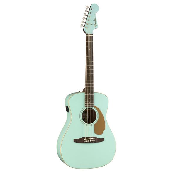 Fender Malibu Player Electro-Acoustic Guitar, Aqua Splash